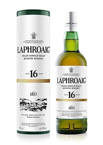 Laphroaig 16 Jahre Single Malt Whisky, mit Geschenkverpackung, 48% Vol, 1 x 0,7l