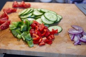 Griechischer Salat - Rezept - Schritt 1