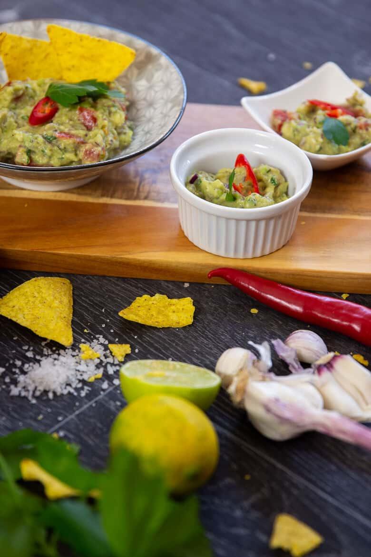 Guacamole zu Nachos