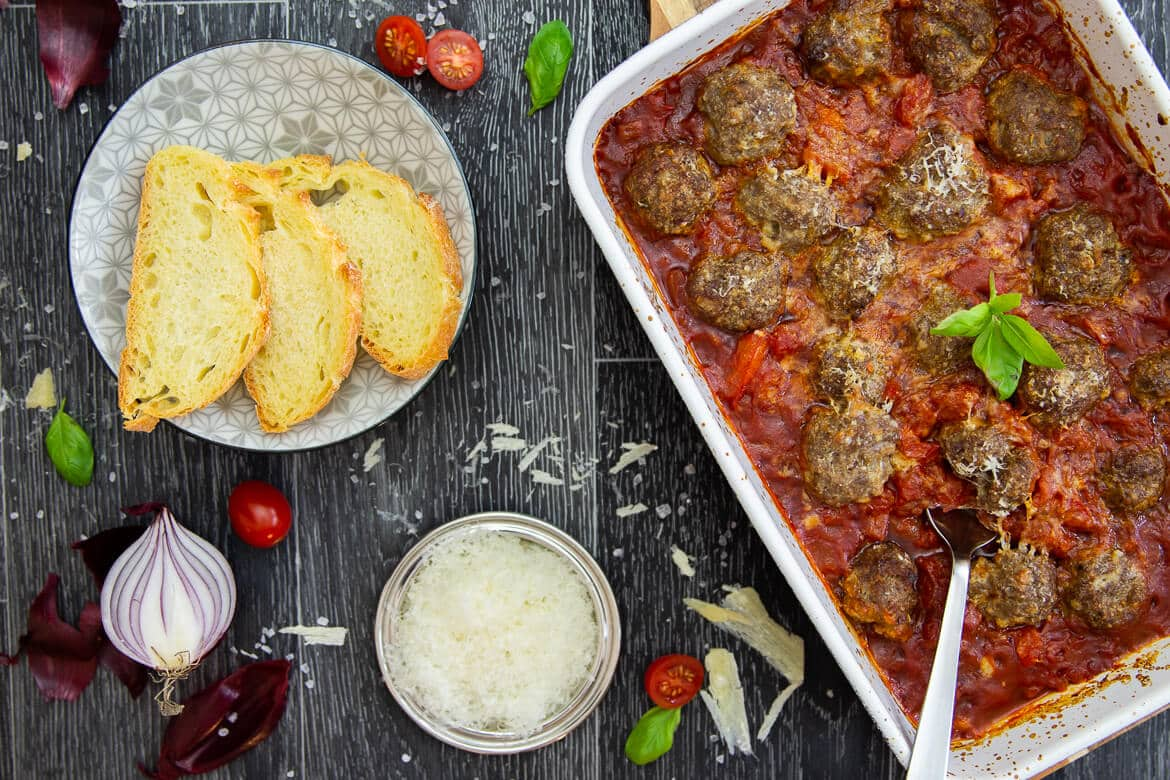 Meatballs in Marinara-Sauce