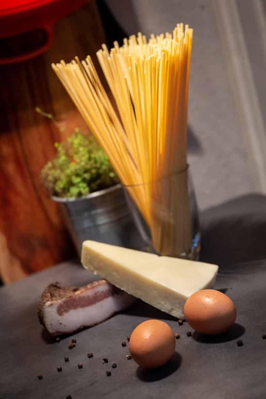 Zutaten für Spaghetti Carbonara