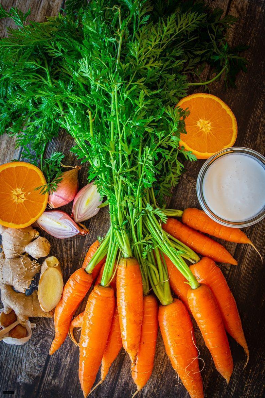 Zutaten für Möhren-Ingwer-Suppe-
