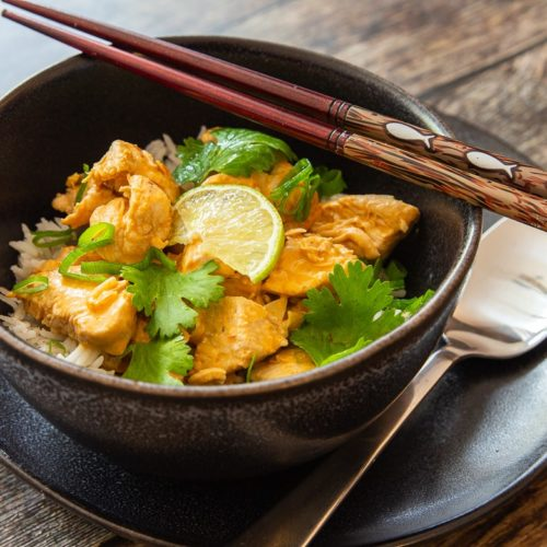 Chicken Curry mit Kokosmilch & Reis