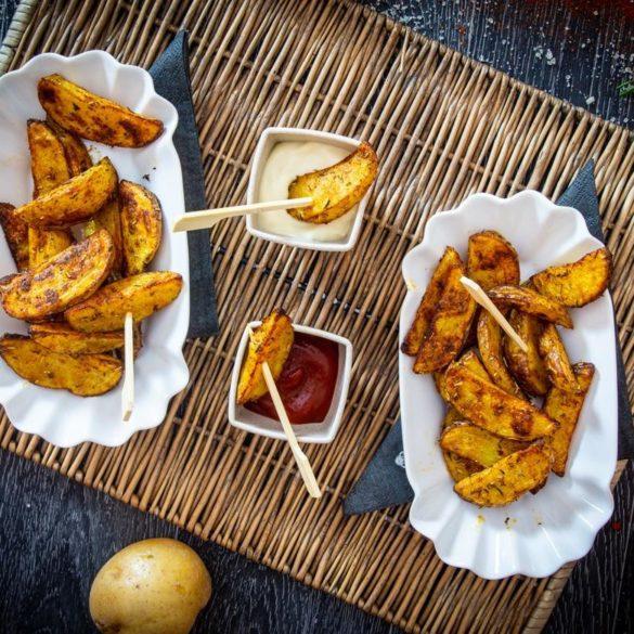 Knusprige Kartoffel-Wedges