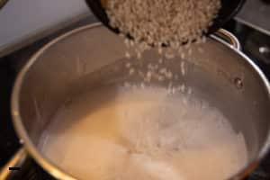 Milchreis in Kokosmilch kochen