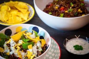 Tex-Mex-Salat mit Hackfleisch