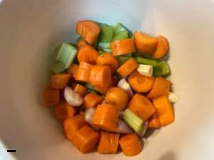 Gemüse für Kalbsbäckchen