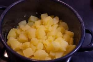 Kartoffeln ausdampfen lassen
