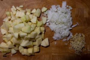 Zutaten für Apfelchutney