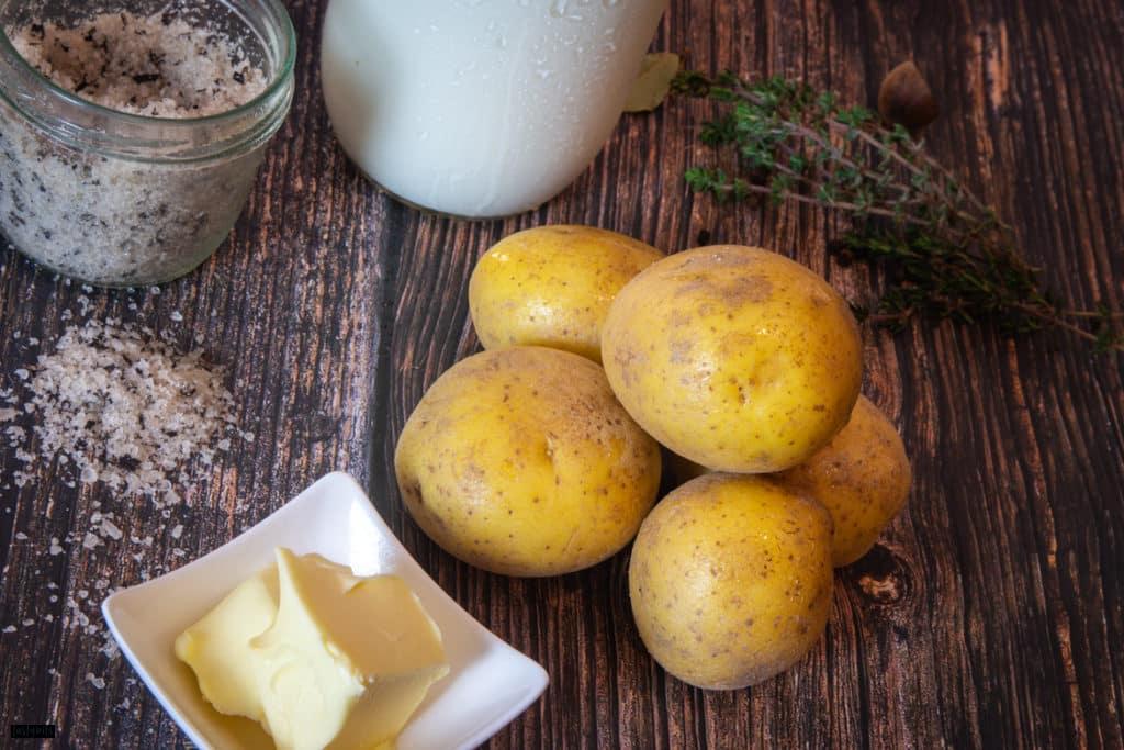 Zutaten für Kartoffelpüree
