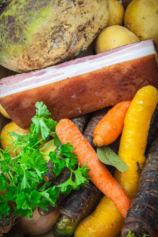 Zutaten für den Steckrübeneintopf