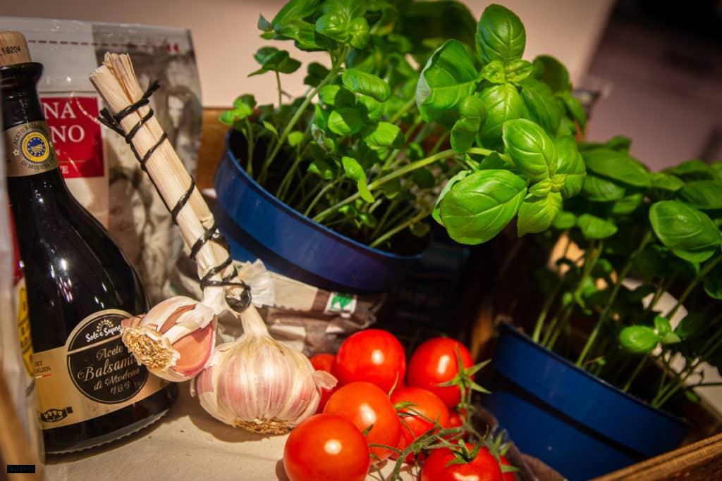 Zutaten für grünes Pesto