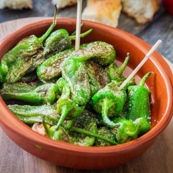 Spanische grüne Pimientos
