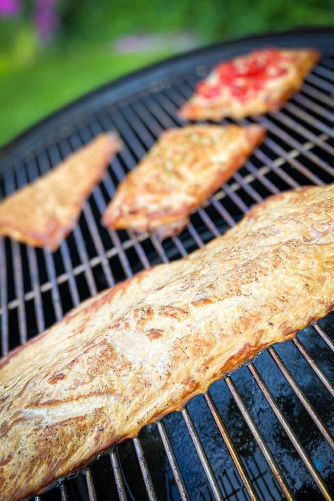 Geräucherter Lachs vom Grill