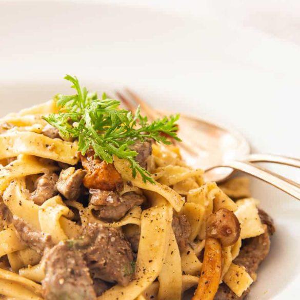 Pastasauce mit Pilzen und Sahne