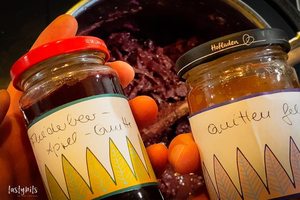 Rotkohl mit Konfitüre oder Preiselbeeren verfeinern