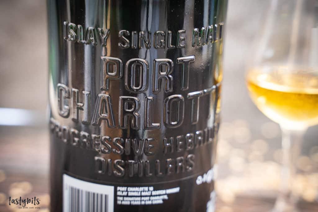 Port Charotte Single Malt Flasche von hinten