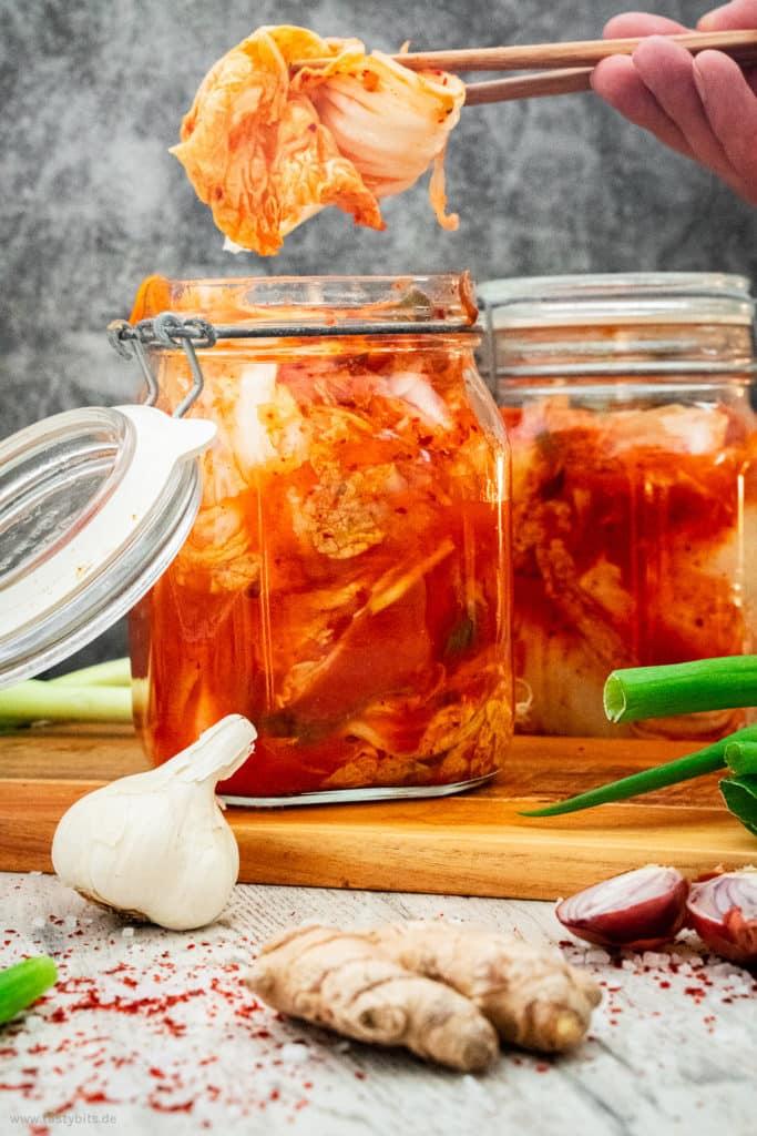 Fermentierten Kimchi selber machen