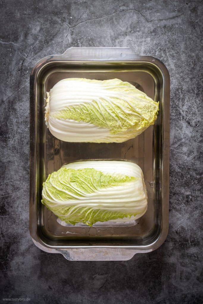 Chinakohl zum Kimchi selber machen