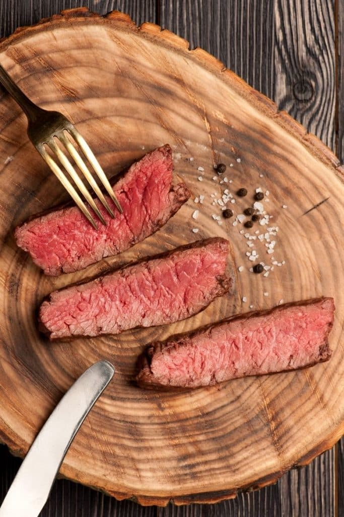 Steak medium braten