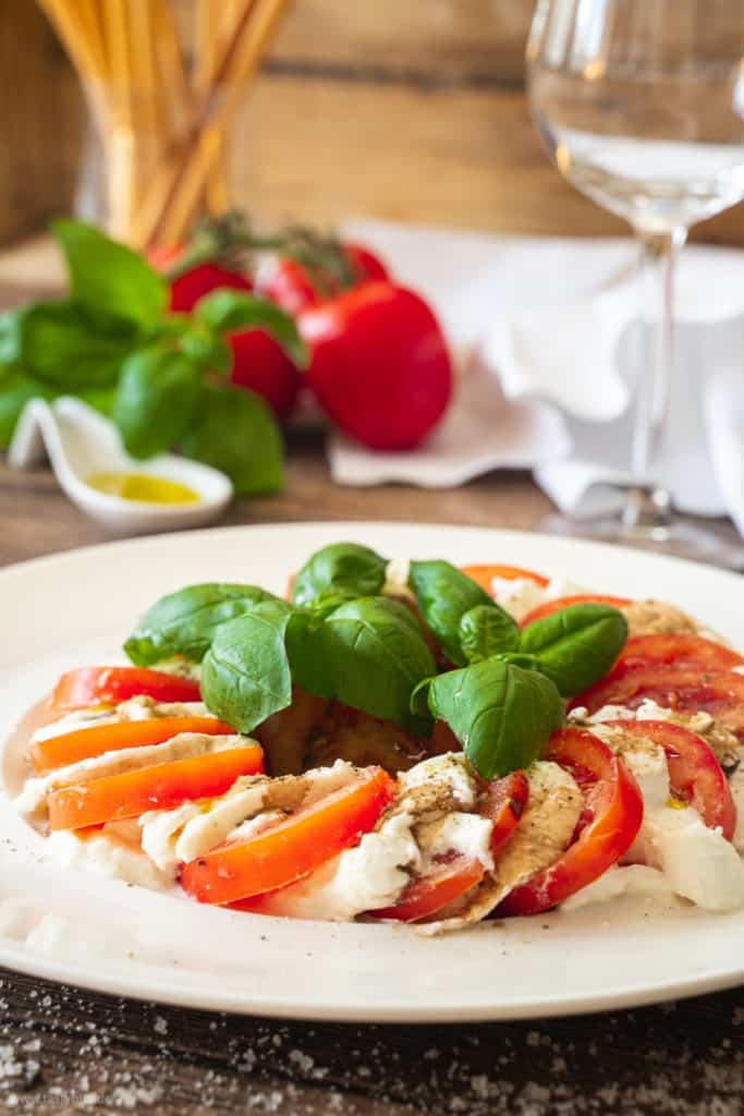 Insalata Caprese - Tomate mit Mozzarella