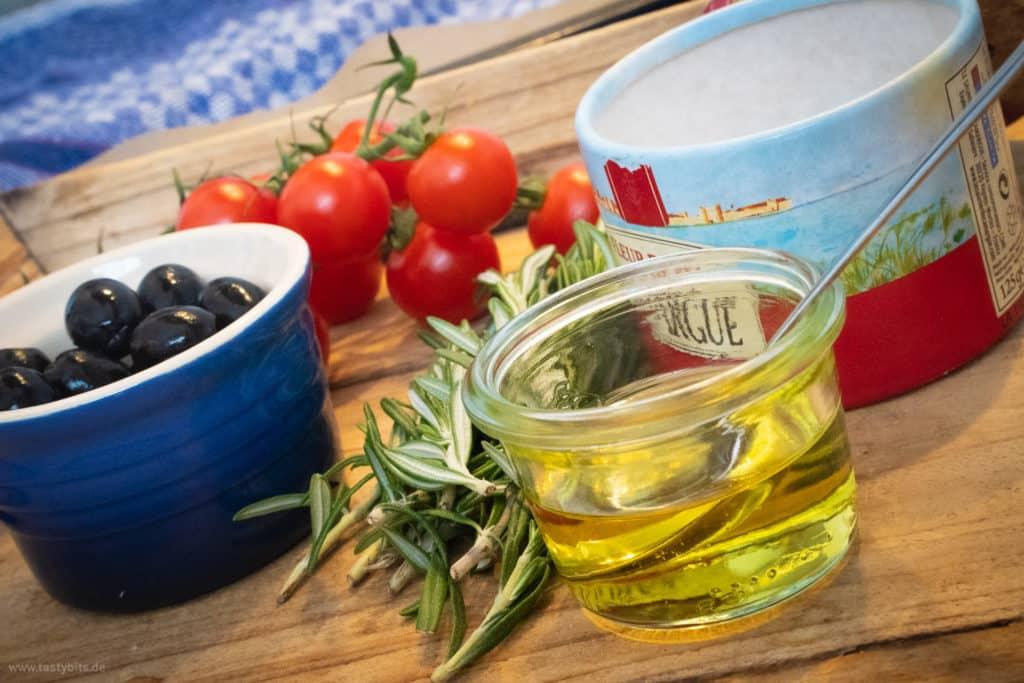 Bunte Gemüse Ideen für Focaccia