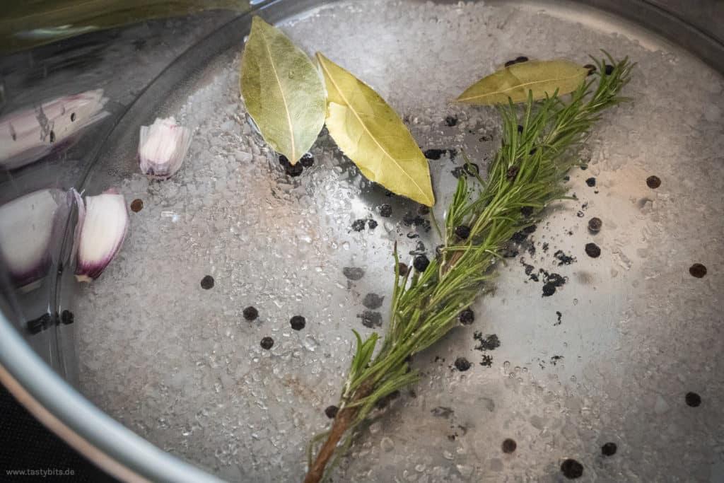 Salzlake für Brathähnchen