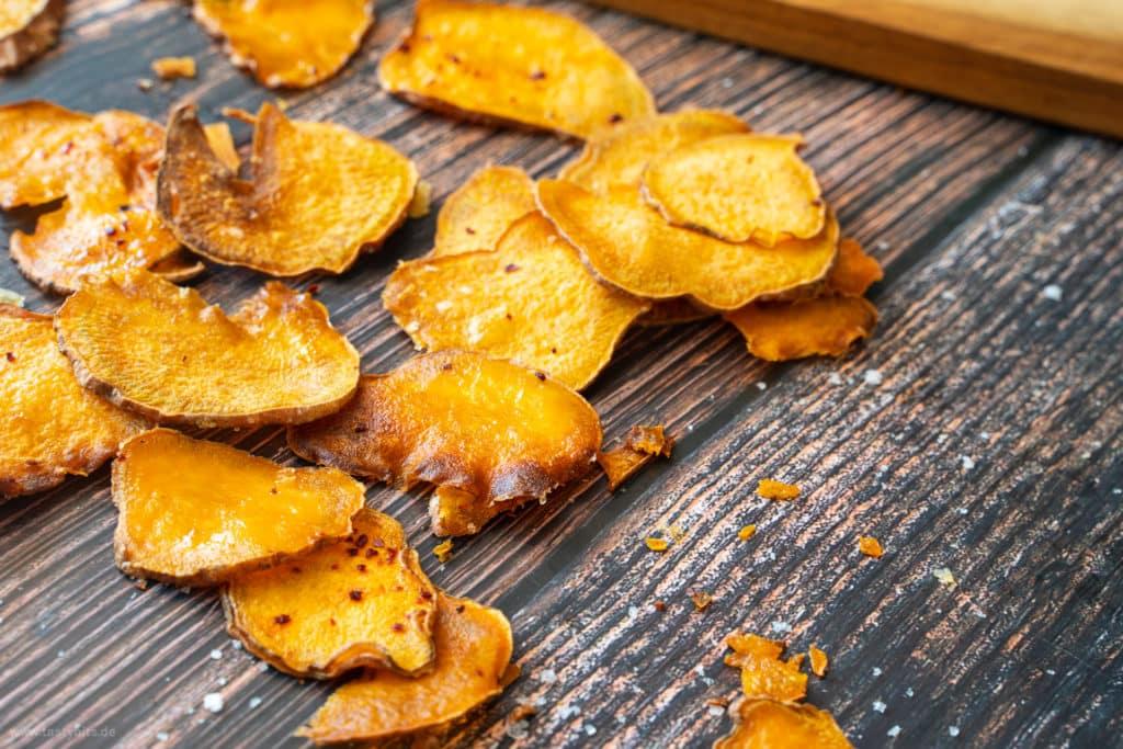 Knusprige Süßkartoffelchips
