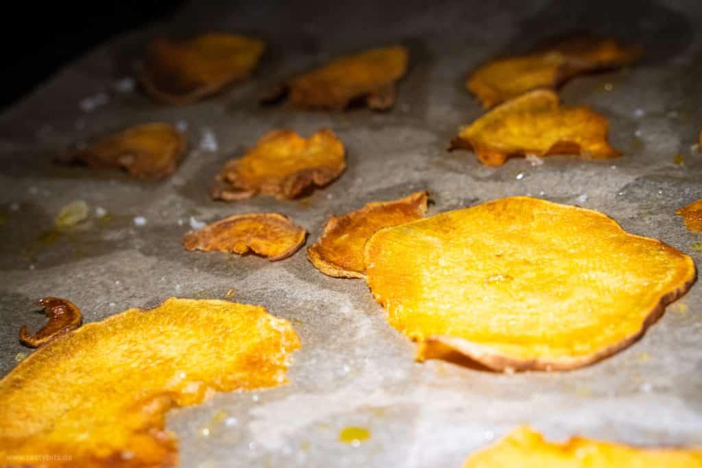 Süßkartoffel Chips backen