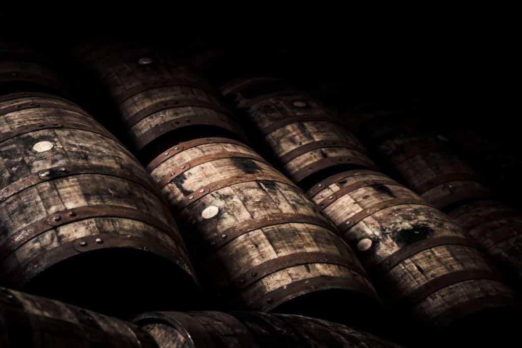 Fasslagerung von Whisky
