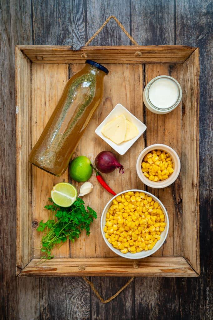 Zutaten für Maissuppe