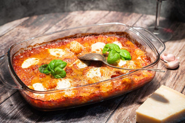 Gnocchi-Auflauf mit Tomate & Mozzarella