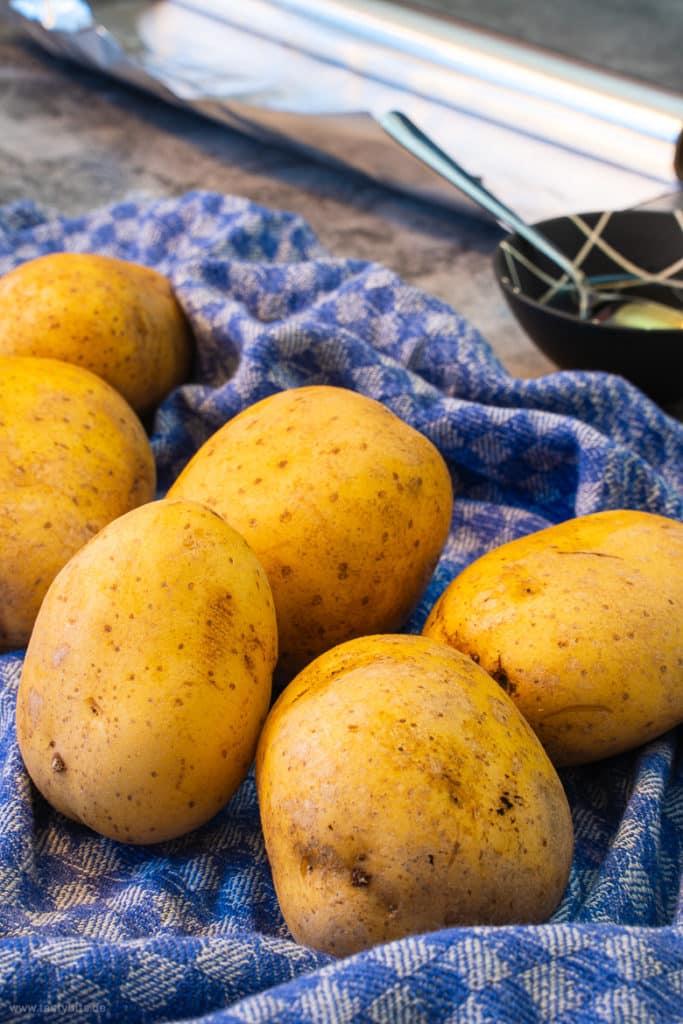 Kartoffeln waschen & abtrocknen