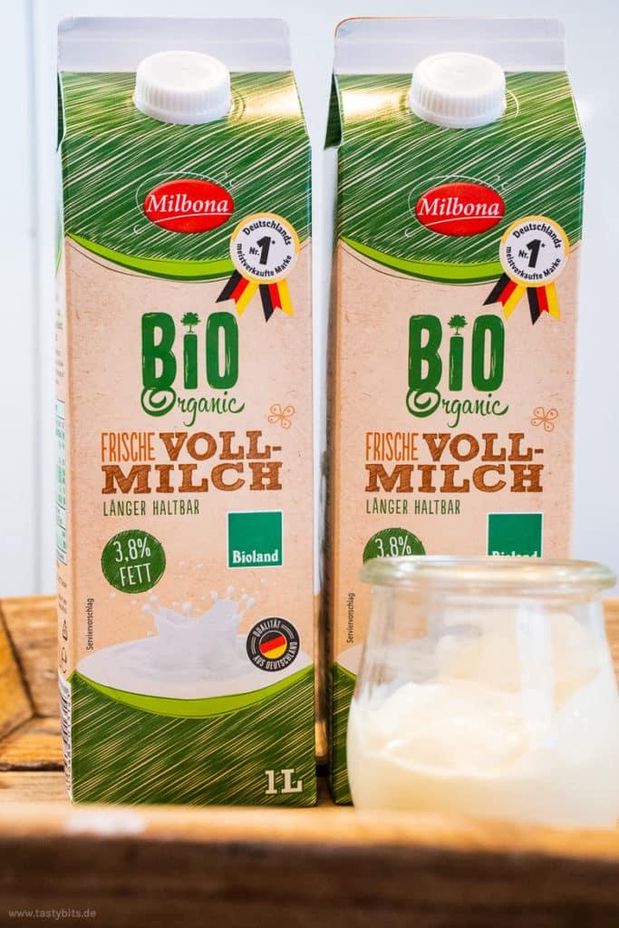 Milch zum Joghurt selber machen